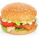 Fishburger isolated on white - PhotoDune Item for Sale