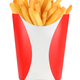 French fries box isolated - PhotoDune Item for Sale