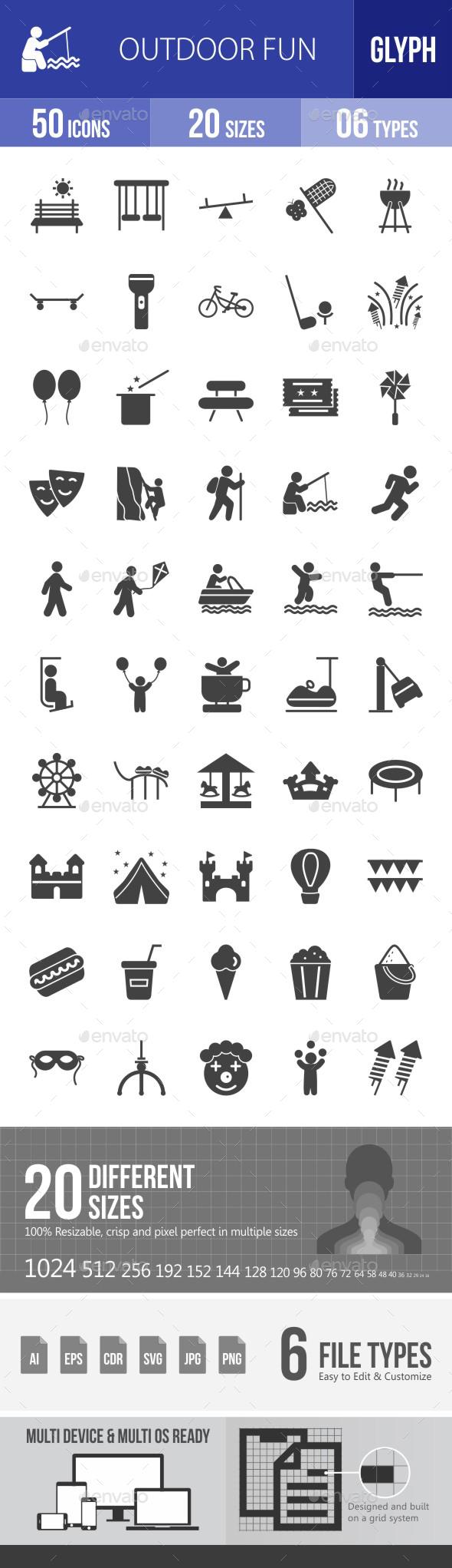 Outdoor Fun Glyph Icons - Icons