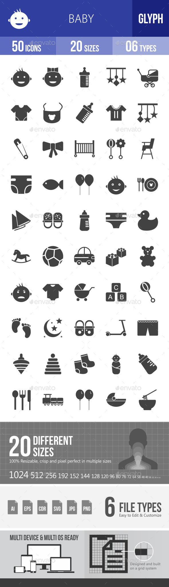 Baby Glyph Icons - Icons