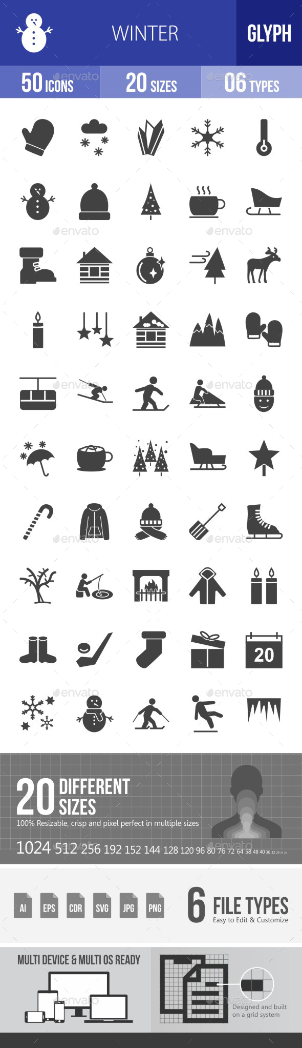 Winter Glyph Icons - Icons