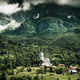 Dramatic Church in high mountains,Dreznica ,Slovenia - PhotoDune Item for Sale