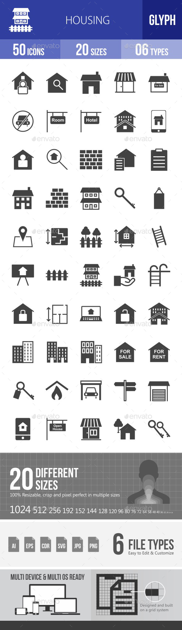 Housing Glyph Icons - Icons