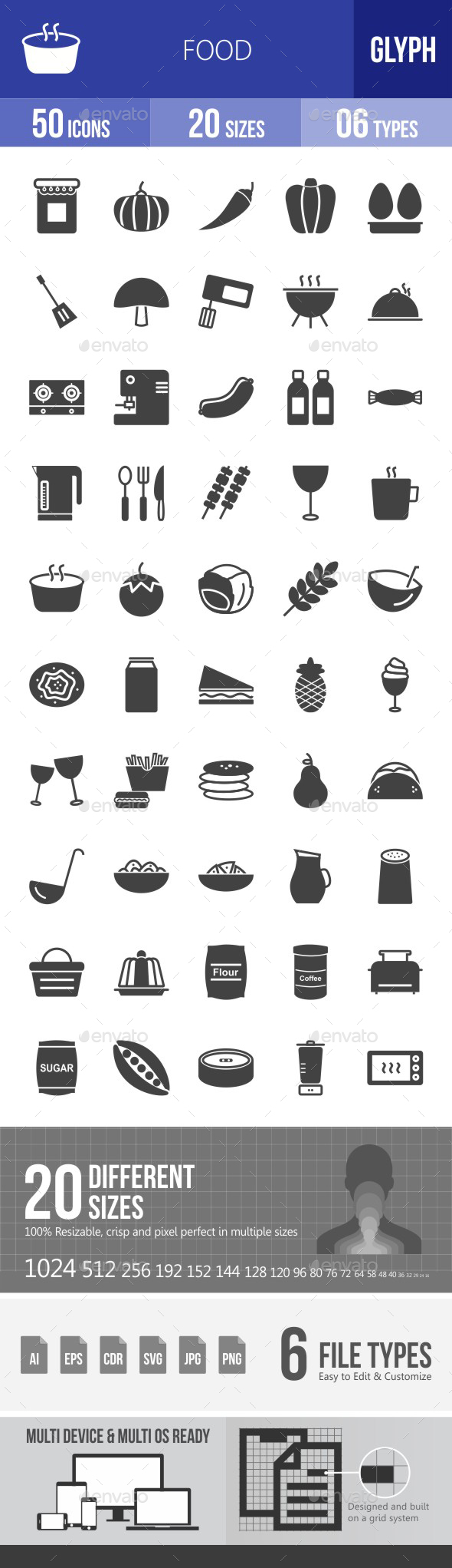 Food Glyph Icons - Icons