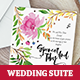 Watercolour Handprinted Wedding Invitation Suite - GraphicRiver Item for Sale