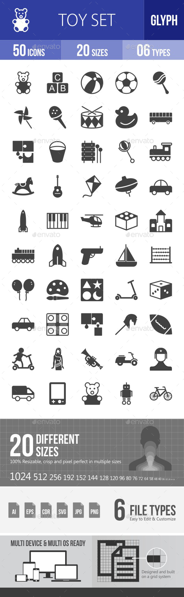 Toys Glyph Icons - Icons