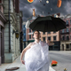 Freak man walks with umbrella, fantasy rain - PhotoDune Item for Sale
