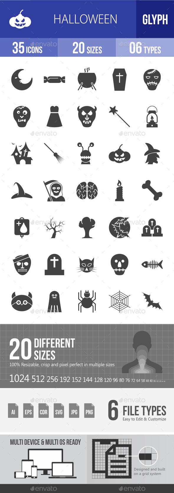 Halloween Glyph Icons - Icons