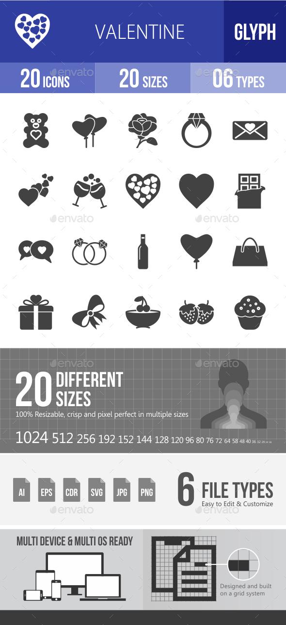 Valentine Glyph Icons - Icons