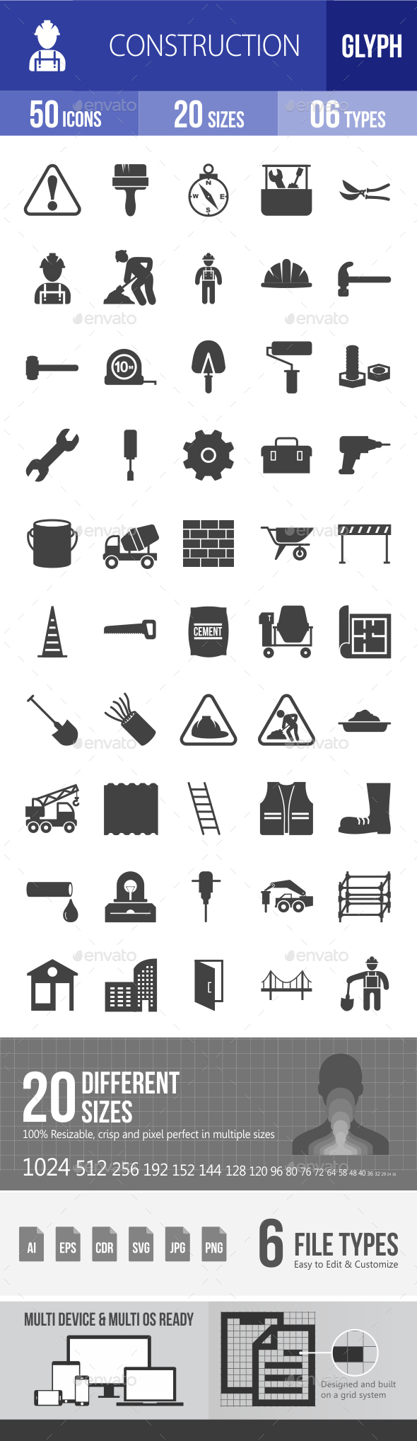 Construction Glyph Icons - Icons
