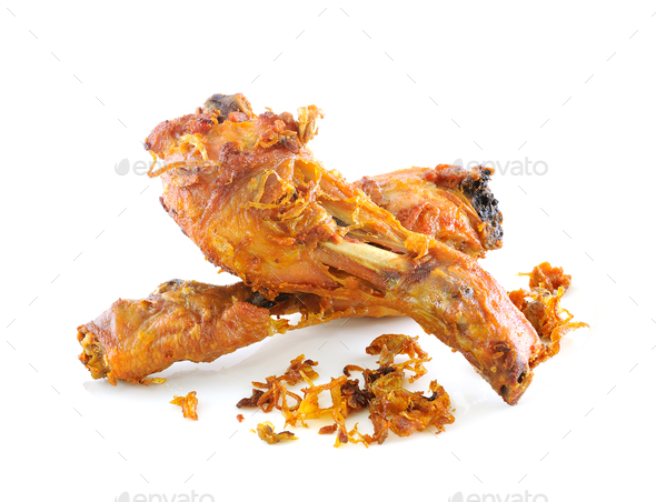 Golden brown fried chicken drumsticks - Stock Photo - Images