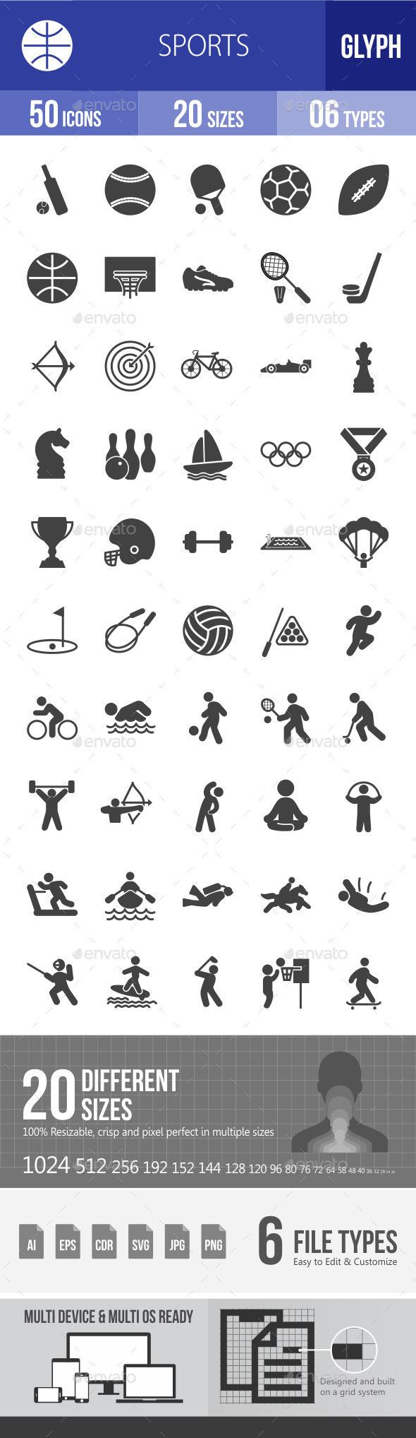 Sports Glyph Icons - Icons