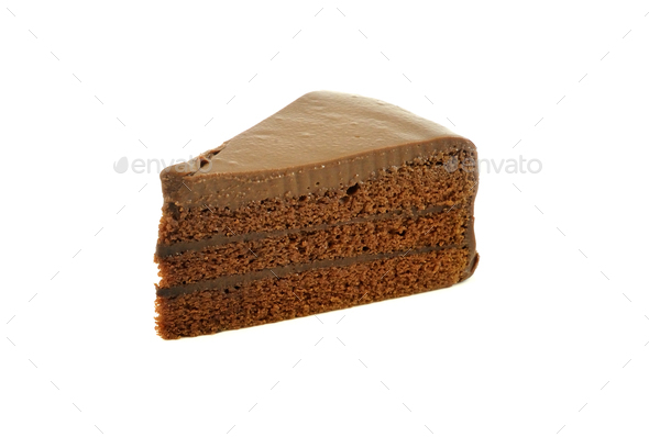 piece of chocolate cake - Stock Photo - Images