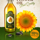 Realistic Sunflower Oil Ad Poster