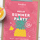 Minimal Summer Party Flyer / Poster - GraphicRiver Item for Sale