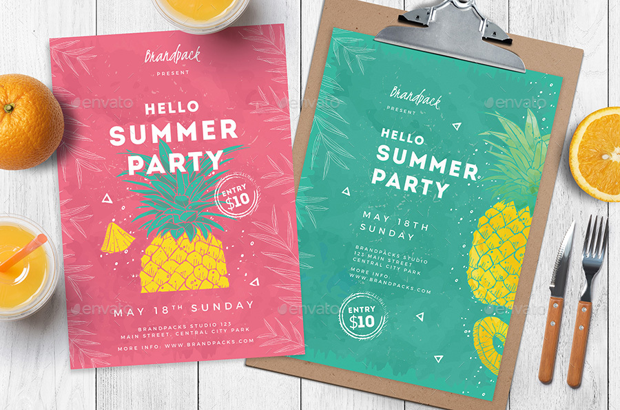 Minimal Summer Party Flyer / Poster