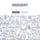Brewery Doodle Concept - GraphicRiver Item for Sale