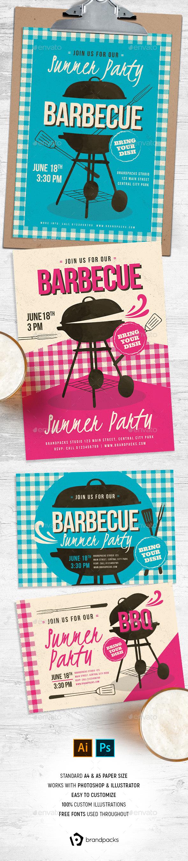 Retro BBQ Flyer / Poster - Restaurant Flyers