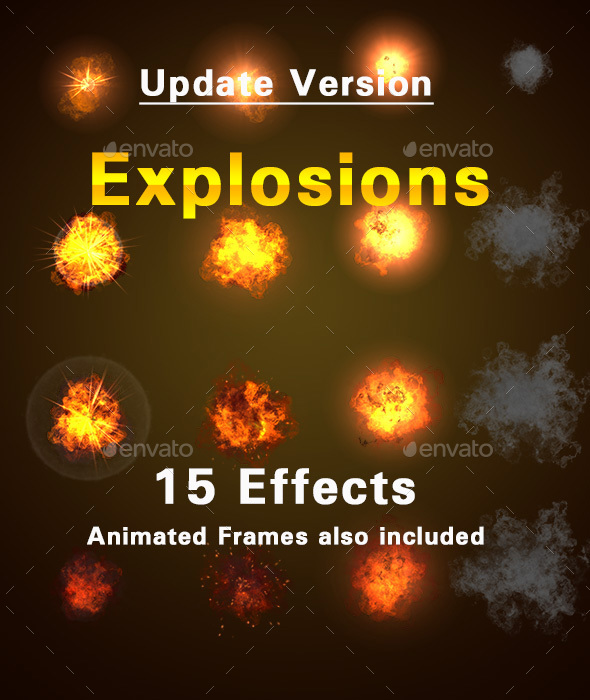 Explosions and Smoke Effects - Sprites Game Assets