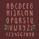 Christmas Font Candy Cane Vector Type Alphabet New