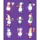 Snowman Cute Cartoon Winter Christmas Character