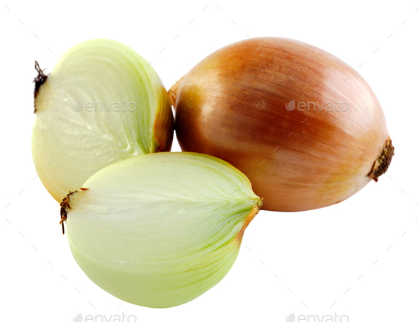 onion on white background - Stock Photo - Images