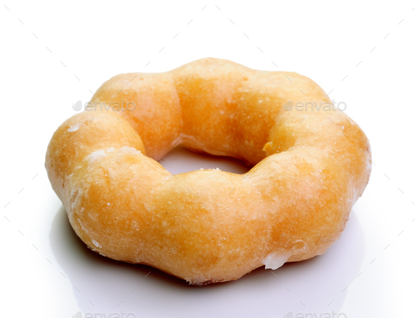 donut isolated on a white background - Stock Photo - Images
