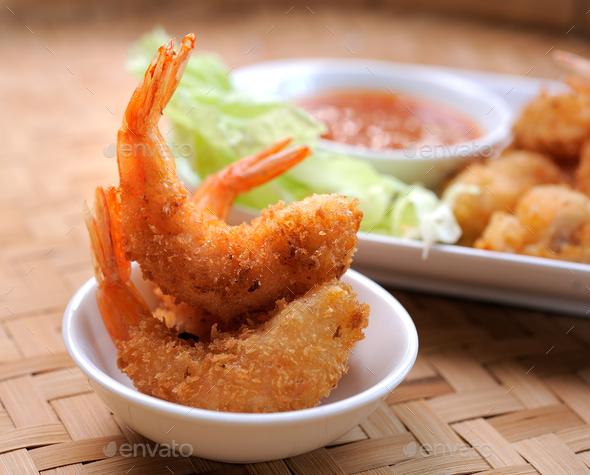Fried Shrimp - Stock Photo - Images