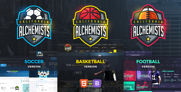 Alchemists - Basketball, Soccer, Football Sports Club and News HTML Template - Nonprofit Site Templates