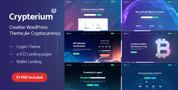Crypterium - Cryptocurrency -  ICO Landing Page WordPress Theme