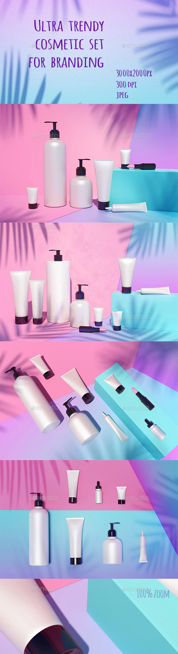 Cosmetic Mock Up Under the Sunlight - 3D Backgrounds