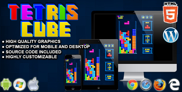 Tetris Cube - HTML5 Arcade Game - CodeCanyon Item for Sale