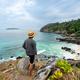 Young traveler looking beautiful seascape view at cock burn Island in Myanmar - PhotoDune Item for Sale