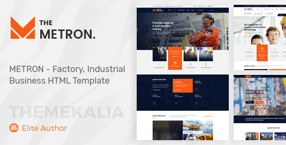 Image of METRON - Factory & Industrial Business HTML Template