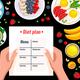 Diet Plan Vector Illustration