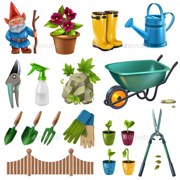 Garden Accessories Set - Miscellaneous Vectors