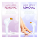 Hair Laser Removal Realistic Banners