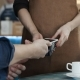 Man Making Nfc Payment By Mobile Phone with Digital Credit Card in Cafe - VideoHive Item for Sale