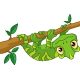 Chameleon on Branch - GraphicRiver Item for Sale