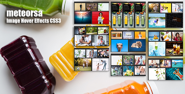 meteorsa - CSS3 Image Hover Effects - CodeCanyon Item for Sale