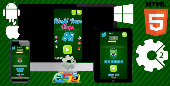 World Team Flags Html5 Game(CAPX)            Nulled