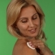 Stunning Mature Woman Smiling To the Camera While Using Cotton Pad on Her Skin - VideoHive Item for Sale