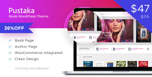 Pustaka - WooCommerce Theme For Book Store - WooCommerce eCommerce