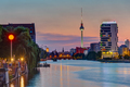 The River Spree in Berlin after sunset - PhotoDune Item for Sale