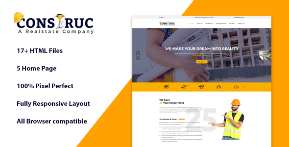 Image of Construc | Ultimate Construction Business Template