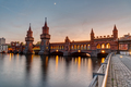 Lovely sunset at the Oberaumbridge and the river Spree  - PhotoDune Item for Sale