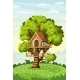 Treehouse on a Meadow - GraphicRiver Item for Sale
