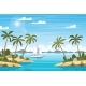 Tropical Landscape with Boat - GraphicRiver Item for Sale