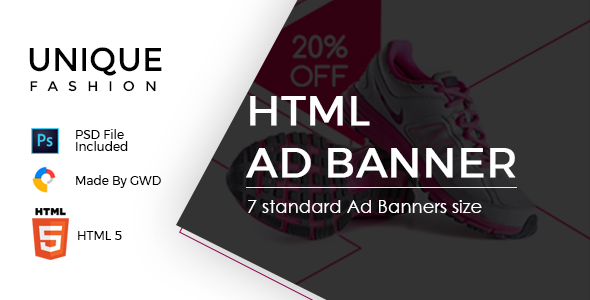 Unique Fashion Ad Banner            Nulled