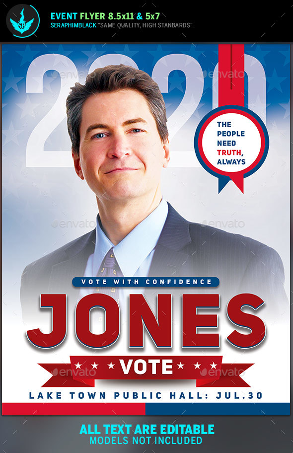 Political Flyer Template 9 By Seraphimblack Graphicriver